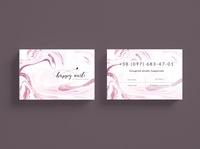 Happy nails business card