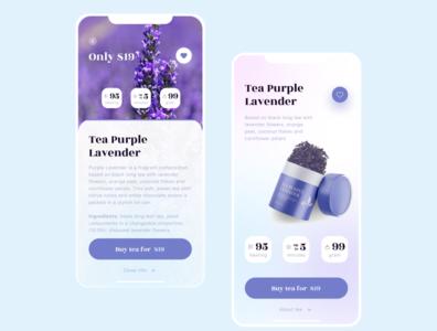 Lavenda Tea App colorful mobile ui app cook eat
