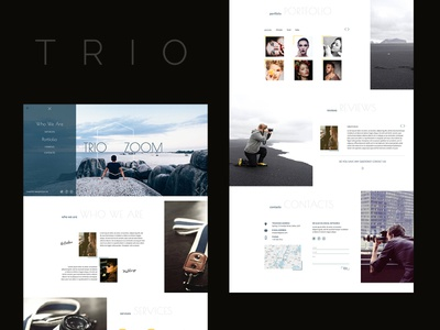 TRIO ZOOM: landing page for Photographers