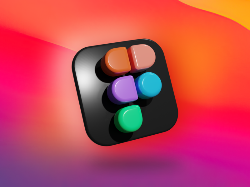 Figma logo 3D blender icon experiment figma logo 3d art 3d