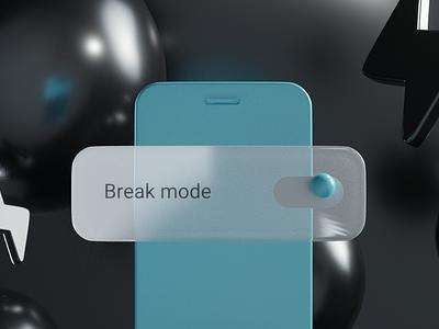 Break mode: ON shape notifications blender3d blender sphere modeling model holiday notification abstract switch iphone 3d art 3d