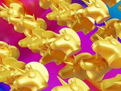 Rainbow Unicorn 🦄 pattern texture character experiment nft model rainbow unicorn 3d art c4d blender 3d render