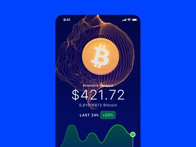 Bitcoin app blender ui design app design mobile ui video animation 3d concept app bitcoin crypto cuberto