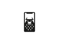 Bull on phone