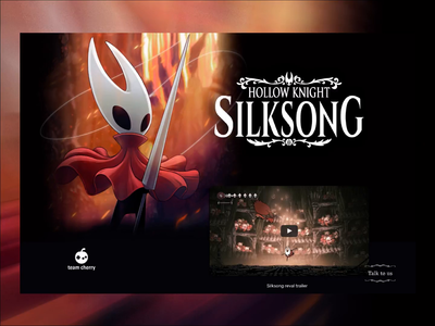 Hollow Knight - Silksong landing video game game switch nintendo transition inspiration videogame desktop principle after effects animation landing hollow knight video