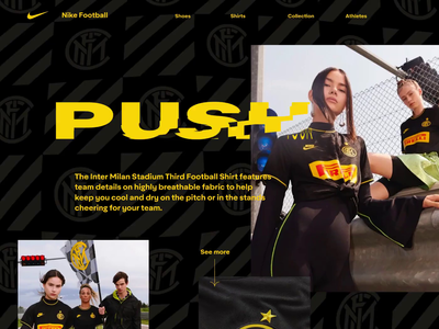 Football blog design nike shirt race after effects figma principle effects motion inspiration website model typography user interface landing football video animation