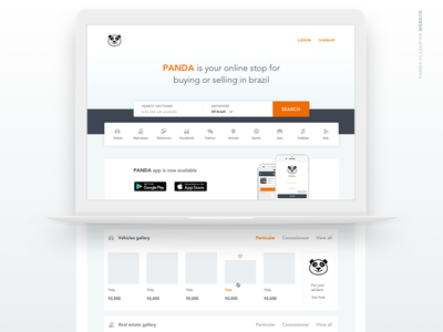 Classified Ads website bootstrap home page design website shot minimal flat ux ui categories web layout