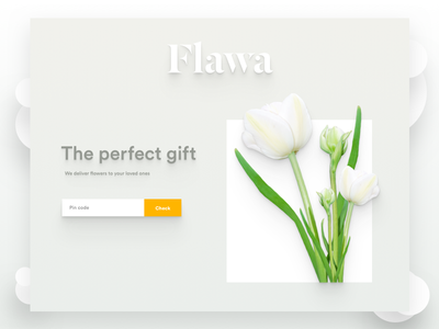 Landing Page Above The Fold delivery flower page landing website typography space flat design concept clean
