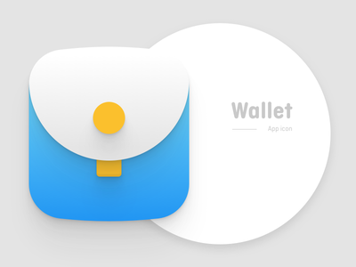 Wallet App Icon branding money illustration currency material clean ios styleguide brand logo
