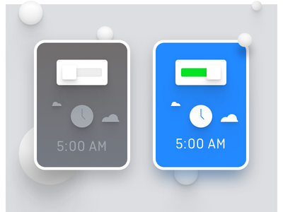 Alarm on/off night day design ui snooze morning