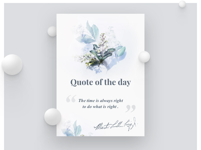 Pop Up Quote of the day motivate inspire day beauty clean fresh design typo quote