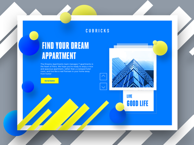 Property Landing Page geometry abstract concept layout web apartments construction website