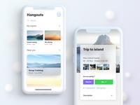 Event App Cards UI UX