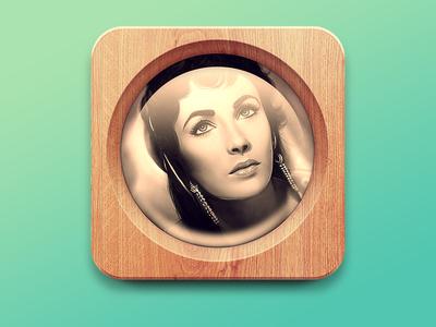 Wooden Photo App Icon