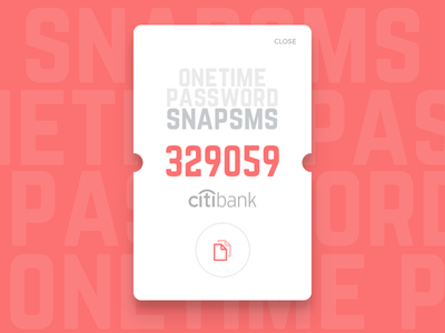 Snapsms mobile android banking otp sms