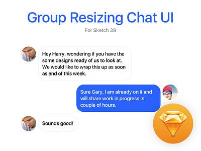 Group Resizing - Sketch 39 freebie design chat sketch 39 sketch ui