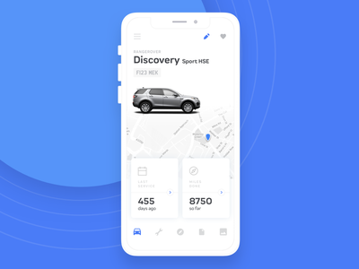 Car Keeper sketch minimal auto dashboard manage ios ux ui interface app car iphone