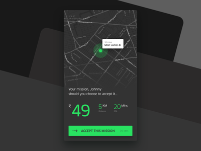 Mission: Impossible sketch ui ux maps adobe xd interface design delivery app ios
