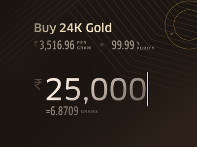 Buy Gold Online concept design user interface ux ui sketch sketchapp mobile iphone ios interface interaction dark clean gold buy application app android