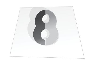 eight design illustration black and white