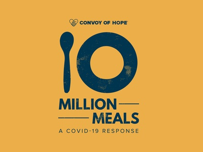10 Million Meals   A COVID-19 Response branding yellow covid-19 relief plate spoon illustration graphic design logo