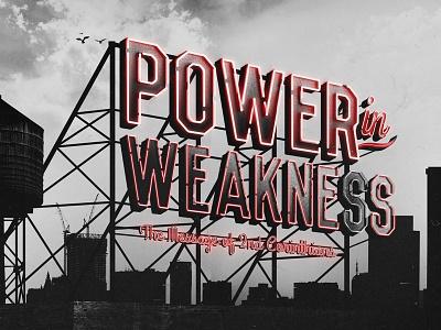 Power in Weakness illustration logo design