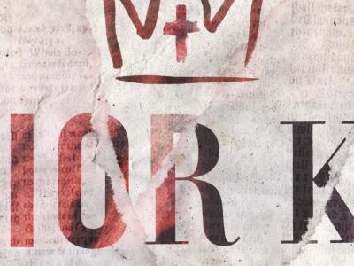 Savior King sermon crown hand drawn paper design