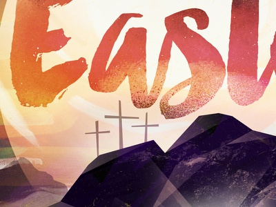 Easter WIP illustration church graphic design paint cross easter