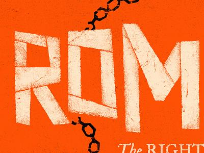 Romans WIP graphic design church sermon series chain illustration design hitchcock saul bass texture orange
