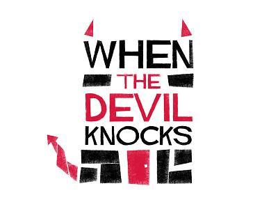 When The Devil Knocks church black red sermon series