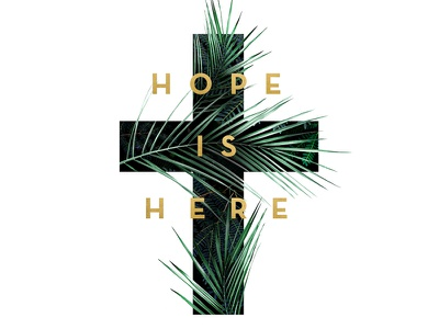 Hope Is Here Series illustration church graphic design paint cross easter