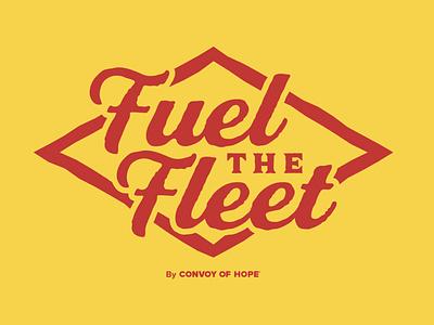 Fuel The Fleet graphic branding typography design logo fleet fuel