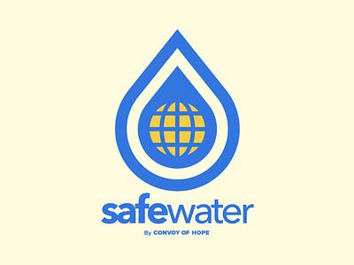 SafeWater branding graphic design logo water safe