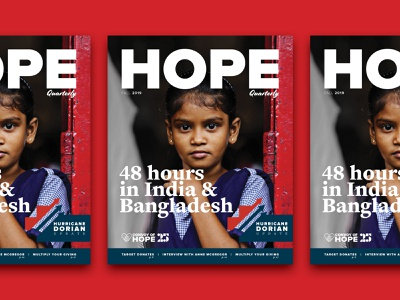 Hope Quarterly Issue 16 typography branding graphic magazine logo