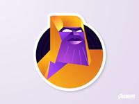 Thanos End Game Sticker