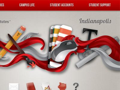 Ai Indianapolis Student Portal Concept web art institute graphic college website portal html css student