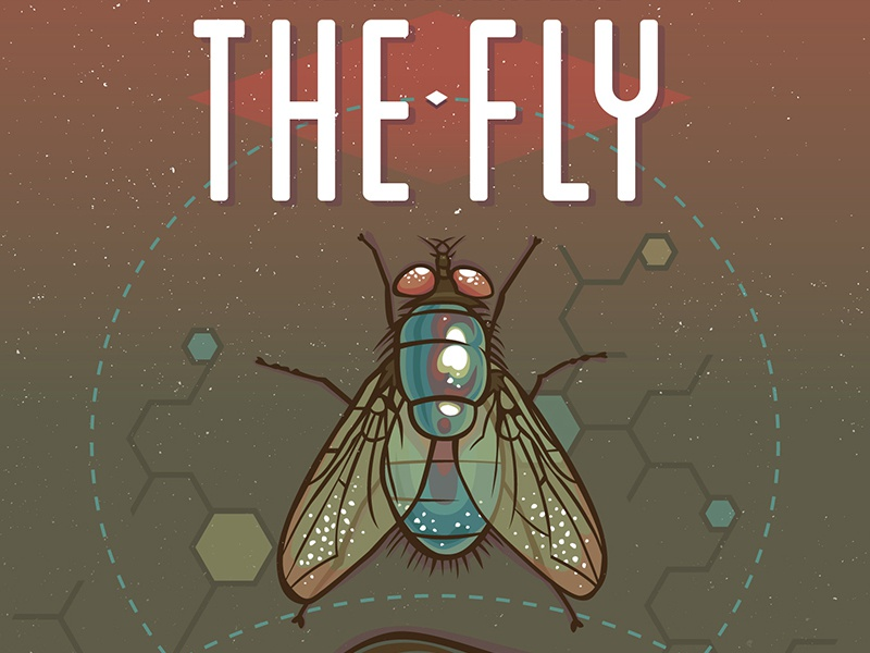 The Fly Movie Poster fly texture poster vector illustration color movie
