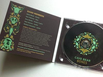 Cave Bear Album - Inside cave bear graphic design typography type illustrator custom filagree