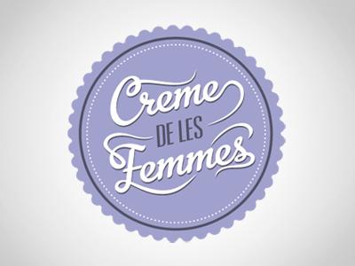 Creme de les Femmes Logo typography logo burlesque feminine