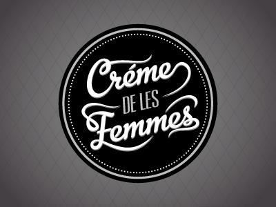 Creme Logo V2 logo typography seal burlesque fishnet