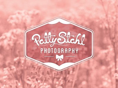 Patty Stahl Photography - Final Logo logo typography seal pin-up retro vintage bow custom hand type