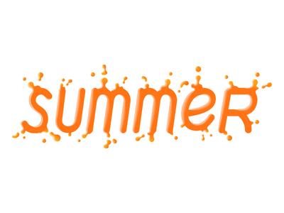 Summer lettering orange juice
