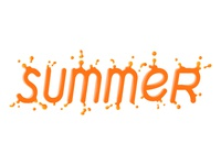 Summer lettering orange juice