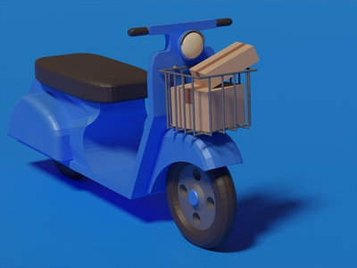 Delivery bike ( my first 3d)