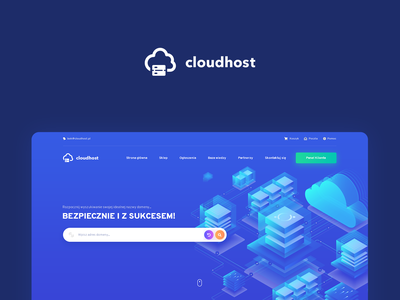 Web Hosting Logo cloud hosting web template branding logo webdesign layout www design