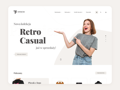 E-commerce Shop UI/UX Design figma ux ui commerce clothes shop clean webdesign template layout www design