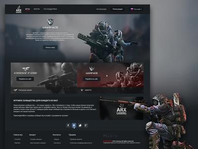 Arx Gaming martsstudio martspro marts webdesign web design complex crossfire warface gaming arx