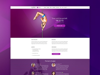 PoleArt Estonia site psd poledance poleart pole martspro marts interface design