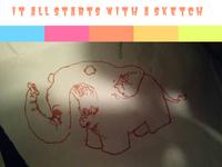 Rabid Elephant Sketch