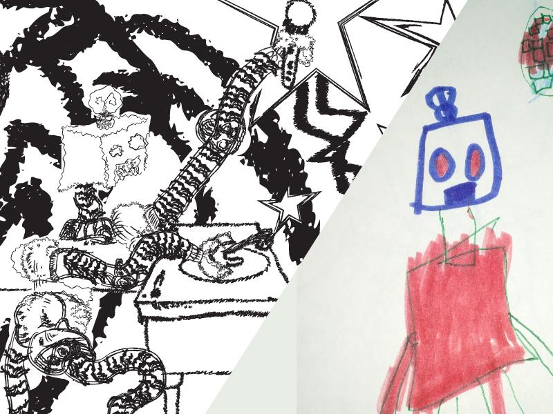 Dancing robot dj combined